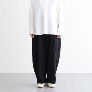 T/R WIDE EGG LONG PANTS #BLACK [A21610]