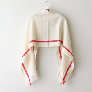 WOOL CLOTH MUFFLER #WHITE×RED [no.4542]