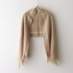 WOOL CLOTH MUFFLER #BEIGE×WHITE [no.4542]