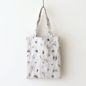 B.S EMBROIDERY LINEN TOTE BAG #FLAX [no.4564]