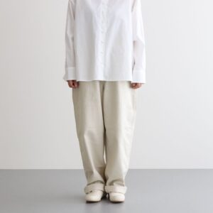 LOOSE TROUSERS FRENCH WORKER SERGE #IVORY [A12013]