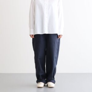 LOOSE TROUSERS FRENCH WORKER SERGE #NAVY [A12013]