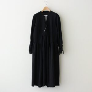 霞立つ朝 PANEL DRESS #ブラック [TLF-221-op004-i]