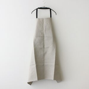 LINEN DENIM APRON #FLAX [no.4703]